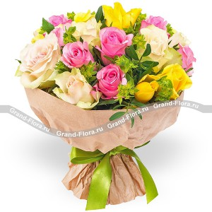 Milady - bouquet of multicolored roses